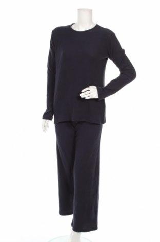 Дамски спортен комплект Anna Field, Размер XS, Цвят Син, 62% полиестер, 33% памук, 5% еластан, Цена 27,60лв.