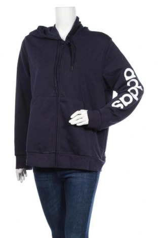 Γυναικείο φούτερ Adidas, Μέγεθος XXL, Χρώμα Μπλέ, 52% βαμβάκι, 48% πολυεστέρας, Τιμή 38,27€