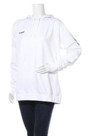 Γυναικείο φούτερ Hummel, Μέγεθος XL, Χρώμα Λευκό, 80% βαμβάκι, 20% πολυεστέρας, Τιμή 21,58€
