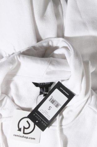 Дамски суичър New Look, Размер S, Цвят Бял, 50% памук, 50% полиестер, Цена 23,10лв.