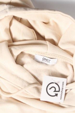 Дамски суичър ONLY, Размер S, Цвят Бежов, 65% полиестер, 35% памук, Цена 30,80лв.