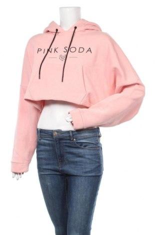 Дамски суичър Pink Soda, Размер L, Цвят Розов, 70% памук, 30% полиестер, Цена 31,50лв.