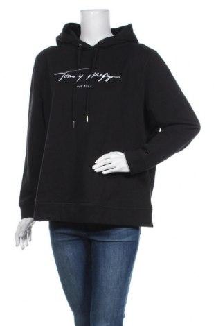 Дамски суичър Tommy Hilfiger, Размер XL, Цвят Черен, 72% памук, 28% полиестер, Цена 104,25лв.