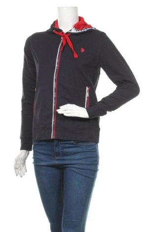 Γυναικείο φούτερ U.S. Polo Assn., Μέγεθος XS, Χρώμα Μπλέ, 95% βαμβάκι, 5% ελαστάνη, Τιμή 22,02€
