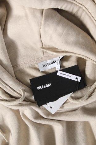 Дамски суичър Weekday, Размер L, Цвят Бежов, 80% памук, 20% полиестер, Цена 44,25лв.