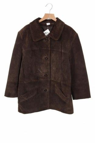 Дамско кожено яке, Размер XS, Цвят Кафяв, Естествен велур, Цена 23,10лв.