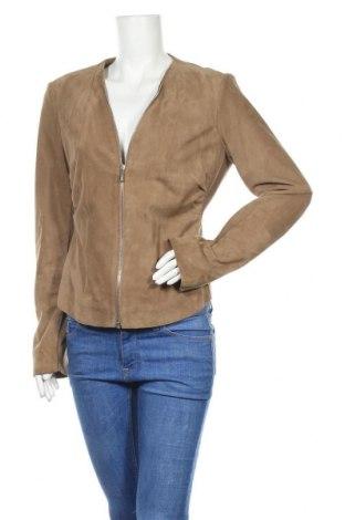 Дамско кожено яке Arma, Размер XL, Цвят Кафяв, Естествен велур, текстил, Цена 142,80лв.
