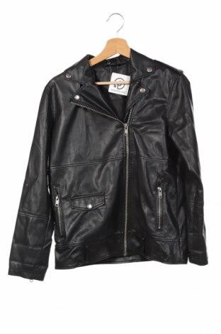 Дамско кожено яке Monki, Размер XS, Цвят Черен, Еко кожа, Цена 28,35лв.