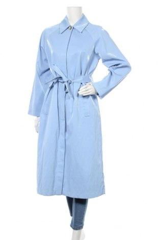 Dámský kabát  Envii, Velikost M, Barva Modrá, 72% polyurethane, 18% viskóza, 4% polyester, 4% len, 2% kovové nitě, Cena  813,00Kč