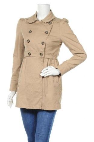 Дамско палто H&M, Размер M, Цвят Бежов, 98% памук, 2% еластан, Цена 31,20лв.