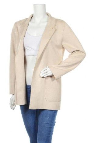 Дамско палто Zara, Размер M, Цвят Бежов, 98% полиестер, 2% еластан, Цена 51,84лв.