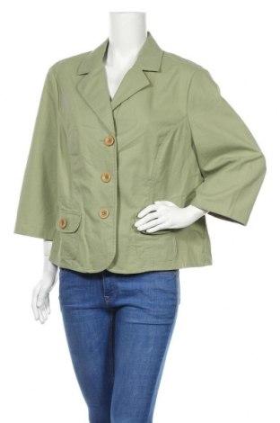 Дамско сако Atelier GS, Размер XL, Цвят Зелен, Памук, Цена 6,83лв.