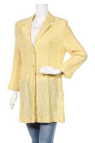 Γυναικείο σακάκι Basler, Μέγεθος L, Χρώμα Κίτρινο, 63% λινό, 22% βισκόζη, 15% πολυαμίδη, Τιμή 18,71€