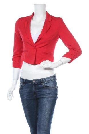 Γυναικείο σακάκι Fb Sister, Μέγεθος S, Χρώμα Κόκκινο, 68% πολυεστέρας, 28% βισκόζη, 4% ελαστάνη, Τιμή 14,94€