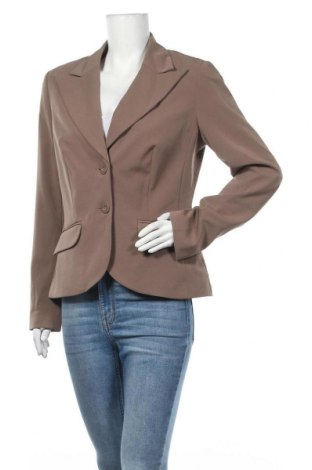 Γυναικείο σακάκι Laura Scott, Μέγεθος L, Χρώμα Καφέ, 95% πολυεστέρας, 5% ελαστάνη, Τιμή 33,77€