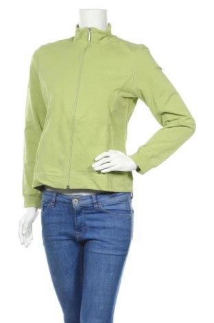 Дамско спортно горнище Tom Tailor, Размер L, Цвят Зелен, 95% памук, 5% еластан, Цена 31,50лв.