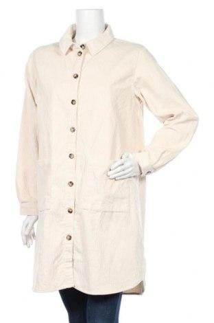 Γυναικείο μπουφάν Pieces, Μέγεθος L, Χρώμα  Μπέζ, Βαμβάκι, Τιμή 15,88€