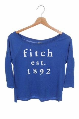 Детска блуза Abercrombie Kids, Размер 11-12y/ 152-158 см, Цвят Син, 60% памук, 40% полиестер, Цена 17,64лв.