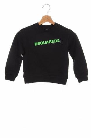 Детска блуза Dsquared2, Размер 6-7y/ 122-128 см, Цвят Черен, Памук, Цена 123,37лв.