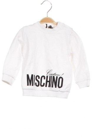 Детска блуза Moschino, Размер 9-12m/ 74-80 см, Цвят Бял, 95% памук, 5% еластан, Цена 86,87лв.
