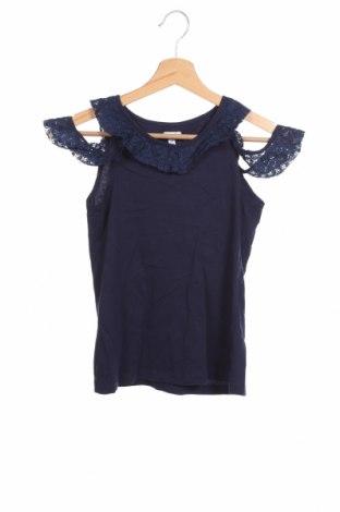 Детска блуза Oviesse, Размер 11-12y/ 152-158 см, Цвят Син, Памук, Цена 7,88лв.