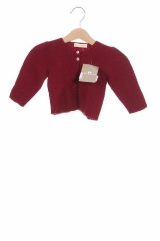 Παιδική ζακέτα Lola Palacios, Μέγεθος 1-2m/ 50-56 εκ., Χρώμα Κόκκινο, Ακρυλικό, Τιμή 5,36€