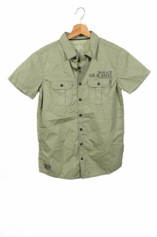 Детска риза Chapter, Размер 12-13y/ 158-164 см, Цвят Зелен, Памук, Цена 13,23лв.
