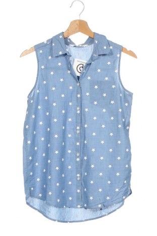 Детска риза H&M, Размер 14-15y/ 168-170 см, Цвят Син, Памук, Цена 18,90лв.
