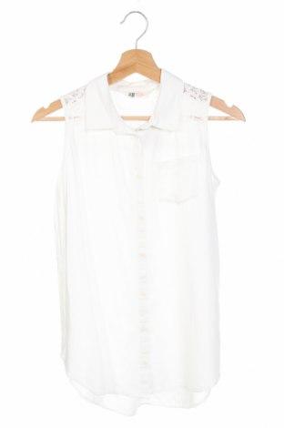 Детска риза H&M, Размер 15-18y/ 170-176 см, Цвят Бял, Вискоза, Цена 12,97лв.