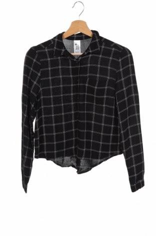Παιδικό πουκάμισο Here+There, Μέγεθος 12-13y/ 158-164 εκ., Χρώμα Μαύρο, Βισκόζη, Τιμή 9,87€