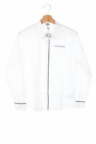 Детска риза Karl Lagerfeld, Размер 12-13y/ 158-164 см, Цвят Бял, Памук, Цена 108,77лв.
