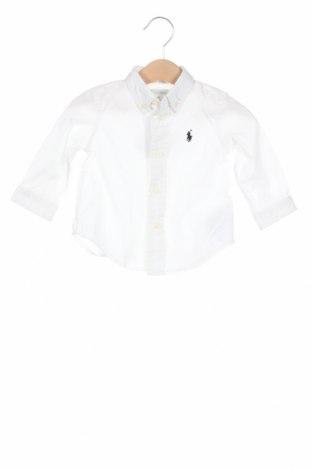Παιδικό πουκάμισο Ralph Lauren, Μέγεθος 9-12m/ 74-80 εκ., Χρώμα Λευκό, Βαμβάκι, Τιμή 16,06€