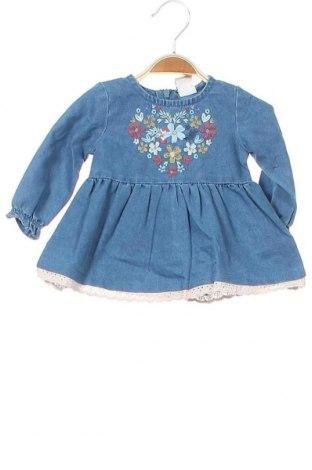 Детска рокля Charanga, Размер 3-6m/ 62-68 см, Цвят Син, 80% памук, 20% полиестер, Цена 32,45лв.