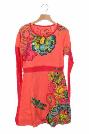 Παιδικό φόρεμα Desigual, Μέγεθος 11-12y/ 152-158 εκ., Χρώμα Ρόζ , Βαμβάκι, Τιμή 27,05€