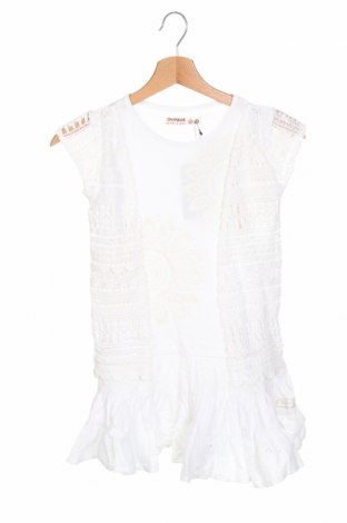 Детска рокля Desigual, Размер 6-7y/ 122-128 см, Цвят Бял, Памук, Цена 74,25лв.