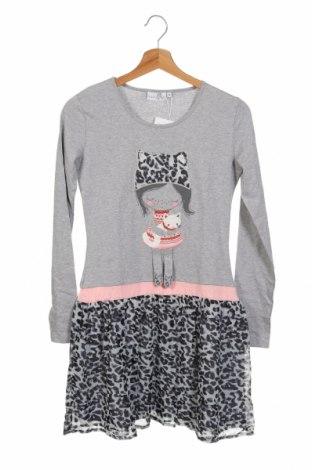 Παιδικό φόρεμα Happy Girls By Eisend, Μέγεθος 12-13y/ 158-164 εκ., Χρώμα Γκρί, Βαμβάκι, Τιμή 19,56€