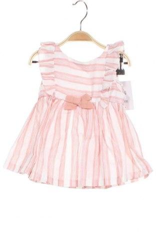 Детска рокля Lola Palacios, Размер 2-3y/ 98-104 см, Цвят Розов, 57% памук, 43% лен, Цена 44,25лв.