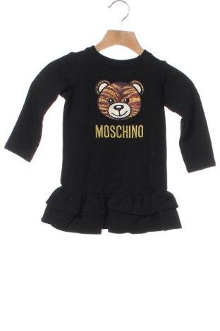 Детска рокля Moschino, Размер 12-18m/ 80-86 см, Цвят Черен, 95% памук, 5% еластан, Цена 86,87лв.