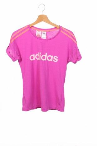 Παιδικό μπλουζάκι Adidas, Μέγεθος 13-14y/ 164-168 εκ., Χρώμα Βιολετί, Πολυεστέρας, Τιμή 12,99€
