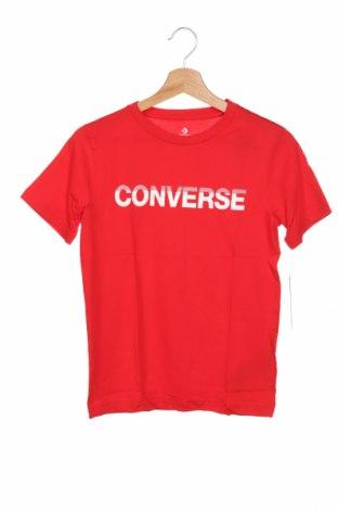 Детска тениска Converse, Размер 9-10y/ 140-146 см, Цвят Червен, Памук, Цена 29,40лв.