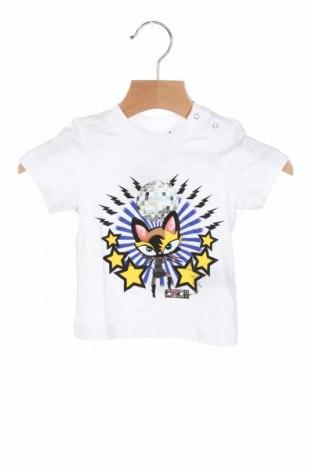 Детска тениска Dsquared2, Размер 2-3m/ 56-62 см, Цвят Бял, Памук, Цена 79,50лв.
