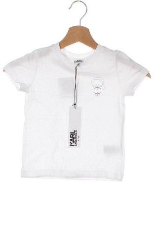 Детска тениска Karl Lagerfeld, Размер 3-4y/ 104-110 см, Цвят Бял, Памук, Цена 111,75лв.