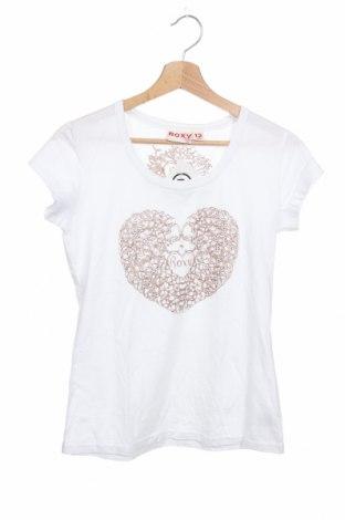 Детска тениска Roxy, Размер 11-12y/ 152-158 см, Цвят Бял, Памук, Цена 16,80лв.