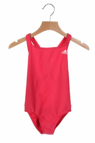 Детски бански Adidas, Размер 7-8y/ 128-134 см, Цвят Розов, 78% полиамид, 22% еластан, Цена 31,27лв.