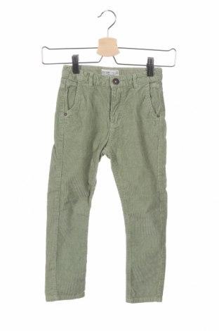 Παιδικό κοτλέ παντελόνι Zara Kids, Μέγεθος 5-6y/ 116-122 εκ., Χρώμα Πράσινο, Βαμβάκι, Τιμή 12,02€