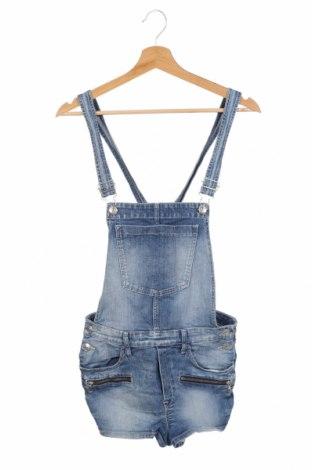 Детски гащеризон H&M, Размер 14-15y/ 168-170 см, Цвят Син, 99% памук, 1% еластан, Цена 19,64лв.