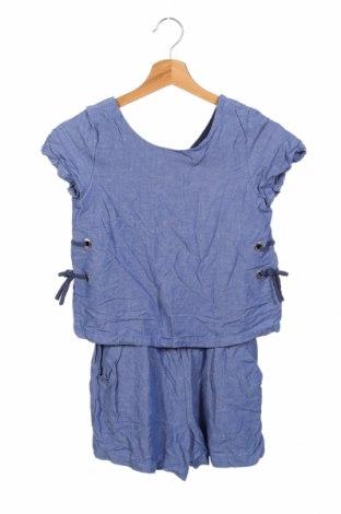 Детски гащеризон Zara, Размер 13-14y/ 164-168 см, Цвят Син, Памук, Цена 33,60лв.