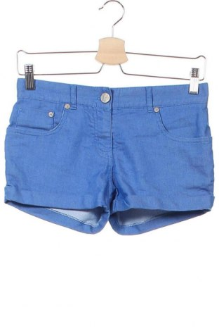 Детски къс панталон Here+There, Размер 12-13y/ 158-164 см, Цвят Син, 57% памук, 40% полиестер, 3% еластан, Цена 5,88лв.