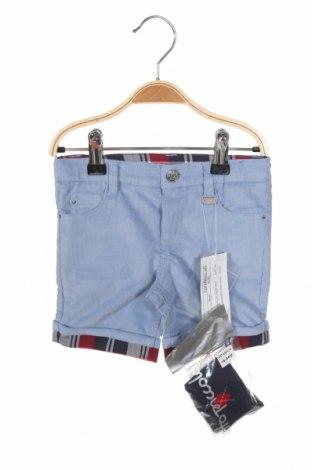 Παιδικό κοντό παντελόνι Tutto Piccolo, Μέγεθος 12-18m/ 80-86 εκ., Χρώμα Μπλέ, 97% βαμβάκι, 3% ελαστάνη, Τιμή 11,91€