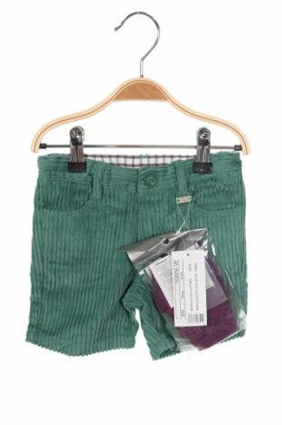Παιδικό κοντό παντελόνι Tutto Piccolo, Μέγεθος 12-18m/ 80-86 εκ., Χρώμα Πράσινο, Βαμβάκι, Τιμή 11,91€